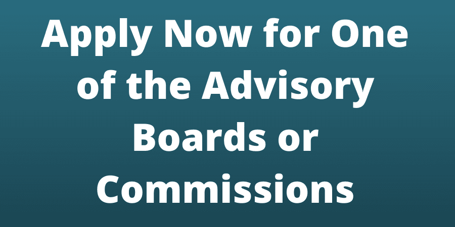 Boards and Commissions Application